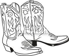 Free Cowboy boot hand Embroidery Design | cowboy boots from trib ...