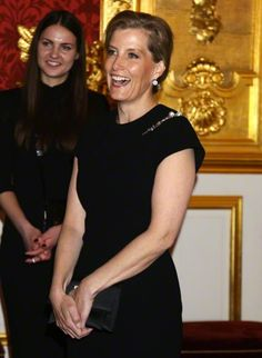 Sophie, Countess of Wessex attends a reception for the London College of Fashion at St James's Palace, London, UK, on the 28th August 2015.