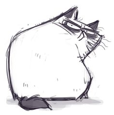185: Angry Cat Spent 4 hours on an illustration for today's post that I ended up scrapping. Not having a good drawing day so here̵...