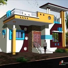 House Arch Design, Single Floor House Design, House Outside Design, Front Gate Design, Home Stairs Design, Village House Design, Bungalow House Design, Small House Design, Modern House Design