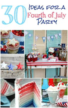 Great ideas for celebrating America this summer | Food, decor, and kid-friendly activities for the Fourth of July | FourGenerationsOneRoof.com