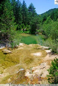 Rio Abellada : piscine naturelle située aux abords de Bentué de Nocito (Haut-Aragon, Sierra de Guara, Pyrénées espagnoles). Sympa, dans ma région, vais le trouver !