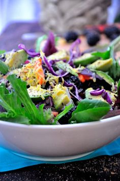 Detox With This Yummy Green Goddess Salad TheHealthyApple.com #glutenfree #recipe #healthy