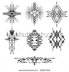 Abstract tribal elements - stock vector