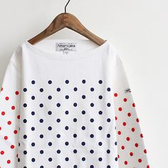 like a sailor-stripe shirt, but with dots
