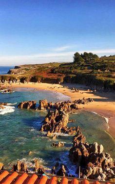 Playa de Toro,Llanes, Asturias Costa, Asturias Spain, How To Speak Spanish, Natural Wonders, Vacation Destinations, Surfing, Scenery, Places To Visit, Adventure