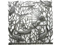 Drum Art - Mermaid Playing Trumpet with Fish -