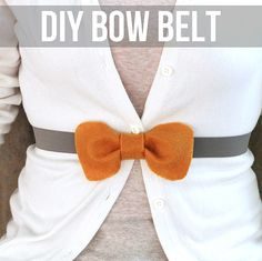 Make this DIY bow belt and wear it with your favorite cardigans or dresses!