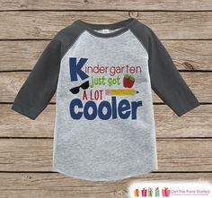 Kids First Day of School Shirt - Boys 1st Day of Kindergarten Outfit - Boys Grey Raglan Tee - 1st Day of School Tshirt - Back to School Top