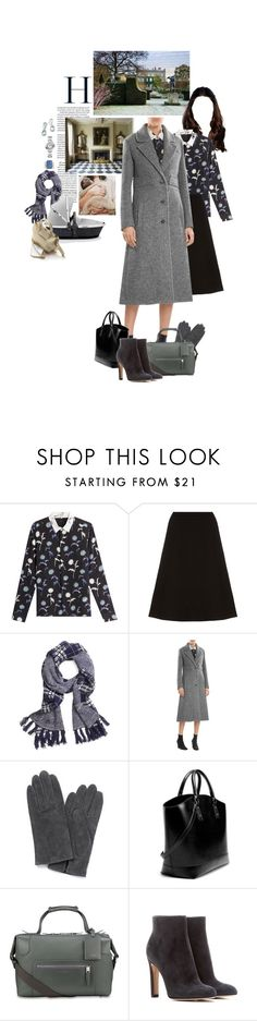 """Untitled #2464"" by duchessq ❤ liked on Polyvore featuring Kenzo, Oscar de la Renta, Brooks Brothers, Aston Martin, Monsoon, Zara, Gianvito Rossi and Cartier"