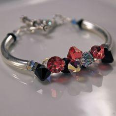 $46 Handmade sterling silver and Swarovski Crystal bracelet