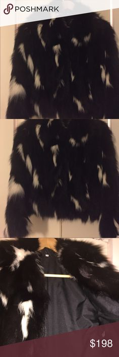 Dyed fox fur jacket Fur jacket in size S. Great condition. Real fox. Bery warm. Hook closure. Made in Greece. Purchased at John Wanamaker. Jackets & Coats