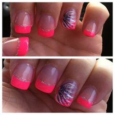 bright nails- something I would have never thought I would like.... But they r still very cut just not for me :)