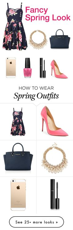 """""""Fancy Spring Look Outfit"""" by liafrancescaholmes on Polyvore featuring Ally Fashion, Christian Louboutin, Michael Kors, OPI and Chanel"""