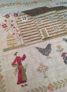 Miss Baxter's House is the title of this cross stitch pattern from Stacy Nash that is part of a new series titled 'Houses of Berry Chapel Ro...