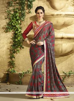 We have ensemble a symphony of enchanting piece to restyle your senses. Be your own style icon with captivating multi colour georgette and jacquard classic designer saree. The brilliant attire creates...
