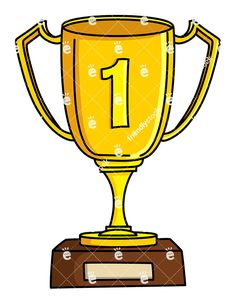 Winner Gold Cup First Place Vector Clipart Royalty Free Stock Image Of