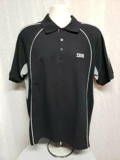 36f72b3d IBM International Business Machine Adult Black 2XL Polo Shirt  #AustralianSpirit