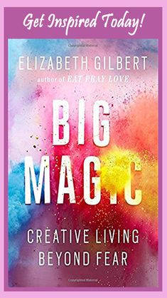 Eat Pray Love author Elizabeth Gilbert explores the nature of the creative life and the heart of inspiration in Big Magic: Creative Living Beyond Fear. Eat Pray Love, New Books, Good Books, Books To Read, Fall Books, Books 2016, Book Lists, Reading Lists, Happy Reading