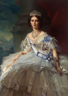Franz Xaver Winterhalter (1805–1873) Portrait of Princess Tatiana Yussupova, née Ribаuрiеrrе (1828-1879) Date 1858
