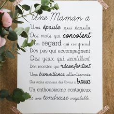 Image of Affiche Exclusive Une Maman Citations Souvenirs, When I Dream, Miracle Morning, Quote Citation, Something To Remember, French Quotes, Color Psychology, Positive Attitude, Kids And Parenting