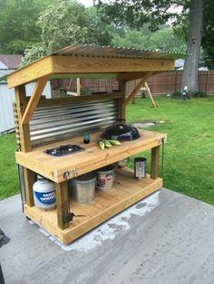 Prefab Outdoor Kitchen, Outdoor Kitchen Kits, Simple Outdoor Kitchen, Modular Outdoor Kitchens, Outdoor Kitchen Cabinets, Outdoor Kitchen Design, Kitchen Ideas, Kitchen Designs, Kitchen Decor