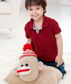 Sock Monkey Pillow P
