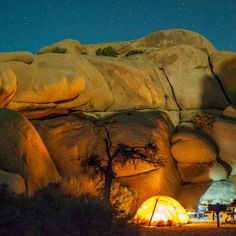 Jumbo Rocks Campground, Joshua Tree National Park, CA Located toward the western border of California's renowned Joshua Tree National Park, Jumbo Rocks Campground is just a short hike from some of the area's coolest rock formations. With just 124 first-come, first-served sites you'll have to arrive early, as Los Angeles is just over 2 hours away.
