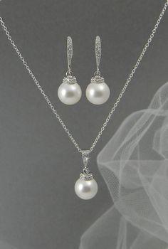 Bridal Jewelry SET Swarovski Wedding jewelry by CrystalAvenues