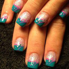 Acrylic nails by Stephanie