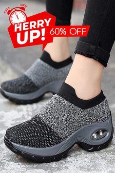 Off >> Women's Walking Shoes Sock Sneakers Stylish Walking Shoes, Best Walking Shoes, Comfy Shoes, Comfortable Shoes, Casual Shoes, Shoes Style, Sock Shoes, Cute Shoes, Shoe Boots
