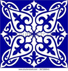 Geometric Islamic Tile Pattern Arabesque blue and white, square Geometric Islamic Tile Pattern Arabesque blue and white, square Geometric Islamic Tile Pattern Arabesque blue and white, square Islamic Art Pattern, Mandala Pattern, Pattern Art, Motifs Islamiques, Motifs Textiles, Ceramic Painting, Diy Painting, Motif Arabesque, Stencils