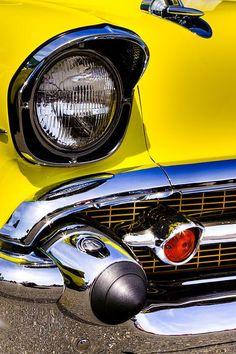 Yellow 1957 Chevrolet Bel Air
