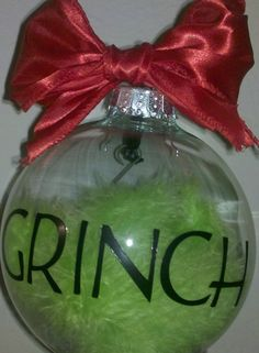DIY:: Grinch Ornament ! Everyone gets one for Christmas!