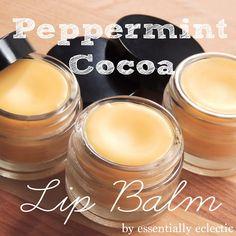 DIY Peppermint Cocoa Lip Balm At The Girl Creative