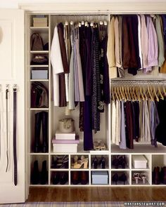 Keep Closets Organized: An organized clothes closet can simplify busy mornings and make every day just a little bit better. Two or even three short rods installed one above the other, rather than one high one, will maximize hanging space for short items like shirts, skirts, and folded trousers. Reserve another area for longer items such as coats and dresses.