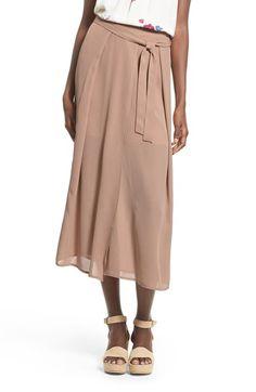 Leith Wrap Front Midi Skirt