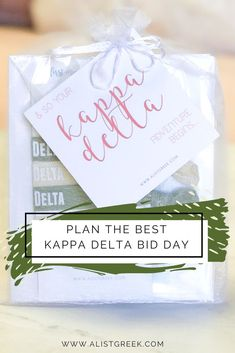 A-List Greek's best tips to plan the best Kappa Delta Bid Day to welcome home your new sisters! #bidday #biddayplanning #kappadelta #kaydee #kd #biddaygifts