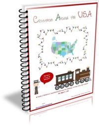 Christmas Around the U.S.A. Curriculum ~ Join our family on a Christmas themed journey on board an airplane being pulled by reindeer to visit all of the 50 states in the U.S.A. at Christmas time for a fun filled learning adventure this November and December!