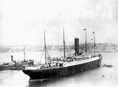The Carpathia at Halifax, Nova Scotia, Canada, c. 1912. The rescue ship that saved some of the people from the Titanic