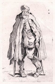 Jacques Callot  - Beggar on Crutches #Realism