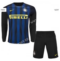 Cheap soccer jersey from topjersey 2016-17 Inter Milan Home Black and Bule LS Thailand Soccer Uniform-Inter Milan| topjersey