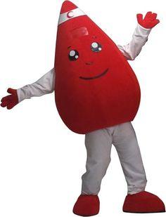 Blood Drop Mascot Blood Drop, Mascot Costumes