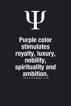 ThePsychMind — Fun Psychology facts here! Purple color