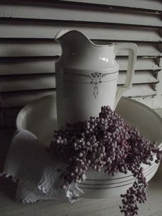 Wash Bowl with Water Pitcher.