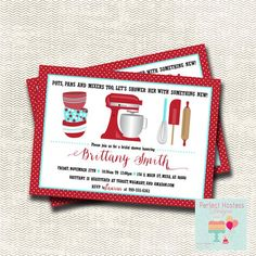 Kitchen Bridal Shower Invitation and Recipe Card by PerfectHostess Recipe Cards, Kitchen Recipes, Print Pictures, Bridal Shower Invitations, Order Prints, Rsvp, Mixers, Etsy, Shower Ideas