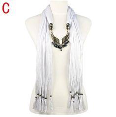 Stylish Wing Charms Jewelry Scarf Wholesale www.jewelryscarfcanada.com