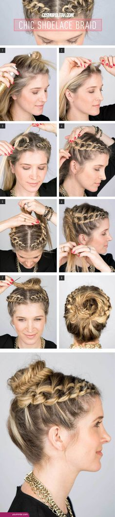 easy hairstyles for curly hair 2015 2016 step by step http://www.yoummisr.com/easy-hairstyles-curly-hair-2015-2016-step-step/
