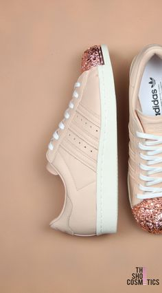 aae8ac66acb Explore our exclusive custom rose gold Adidas shoes. Looking for rose gold  sneakers or a