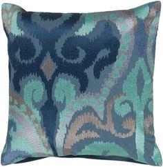 Madagascar Cobalt Ikat Pillow